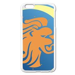 Lion Zodiac Sign Zodiac Moon Star Apple Iphone 6 Plus/6s Plus Enamel White Case by Nexatart