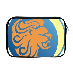 Lion Zodiac Sign Zodiac Moon Star Apple Macbook Pro 17  Zipper Case by Nexatart