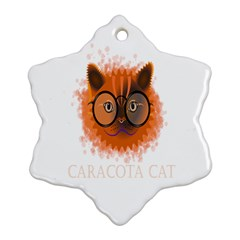 Cat Smart Design Pet Cute Animal Snowflake Ornament (two Sides) by Nexatart