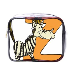Zebra Animal Alphabet Z Wild Mini Toiletries Bags by Nexatart