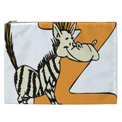 Zebra Animal Alphabet Z Wild Cosmetic Bag (xxl)  by Nexatart