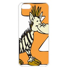 Zebra Animal Alphabet Z Wild Apple Iphone 5 Seamless Case (white) by Nexatart