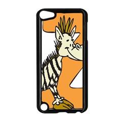 Zebra Animal Alphabet Z Wild Apple Ipod Touch 5 Case (black) by Nexatart