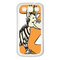 Zebra Animal Alphabet Z Wild Samsung Galaxy S3 Back Case (white) by Nexatart