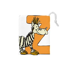 Zebra Animal Alphabet Z Wild Drawstring Pouches (small)  by Nexatart