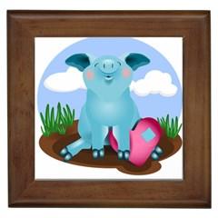 Pig Animal Love Framed Tiles by Nexatart