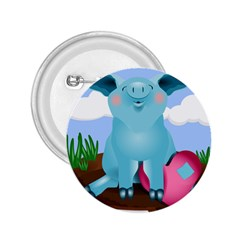 Pig Animal Love 2 25  Buttons by Nexatart