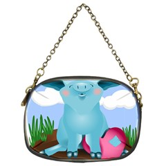 Pig Animal Love Chain Purses (two Sides)  by Nexatart