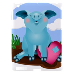 Pig Animal Love Apple Ipad 3/4 Hardshell Case (compatible With Smart Cover) by Nexatart