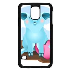 Pig Animal Love Samsung Galaxy S5 Case (black) by Nexatart