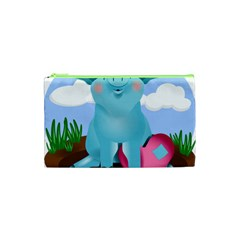 Pig Animal Love Cosmetic Bag (xs) by Nexatart