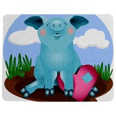 Pig Animal Love Jigsaw Puzzle Photo Stand (rectangular) by Nexatart