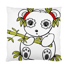 Panda China Chinese Furry Standard Cushion Case (one Side) by Nexatart