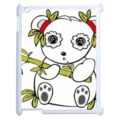 Panda China Chinese Furry Apple Ipad 2 Case (white) by Nexatart