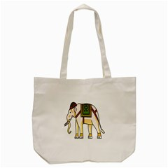 Elephant Indian Animal Design Tote Bag (cream) by Nexatart