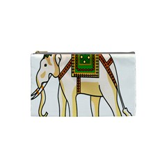Elephant Indian Animal Design Cosmetic Bag (small)  by Nexatart
