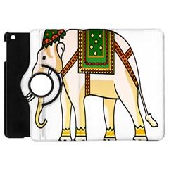 Elephant Indian Animal Design Apple Ipad Mini Flip 360 Case by Nexatart