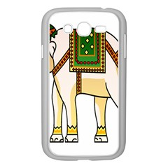 Elephant Indian Animal Design Samsung Galaxy Grand Duos I9082 Case (white) by Nexatart