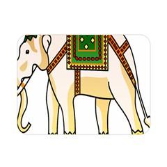 Elephant Indian Animal Design Double Sided Flano Blanket (mini)  by Nexatart