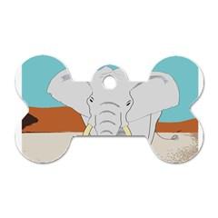 Africa Elephant Animals Animal Dog Tag Bone (two Sides) by Nexatart