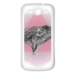 Lizard Hexagon Rosa Mandala Emblem Samsung Galaxy S3 Back Case (white) by Nexatart