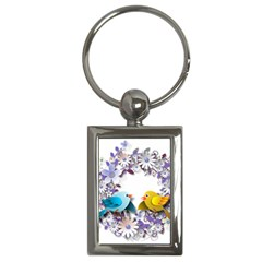 Flowers Floral Flowery Spring Key Chains (rectangle)  by Nexatart