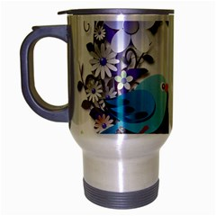 Flowers Floral Flowery Spring Travel Mug (silver Gray) by Nexatart