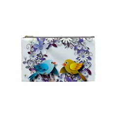 Flowers Floral Flowery Spring Cosmetic Bag (small)  by Nexatart