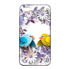 Flowers Floral Flowery Spring Apple Iphone 4/4s Seamless Case (black) by Nexatart