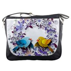 Flowers Floral Flowery Spring Messenger Bags by Nexatart