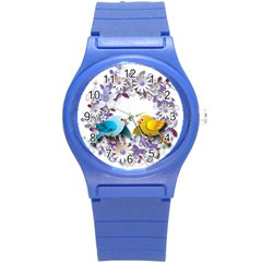 Flowers Floral Flowery Spring Round Plastic Sport Watch (s) by Nexatart