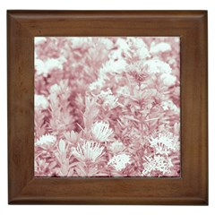 Pink Colored Flowers Framed Tiles by dflcprints