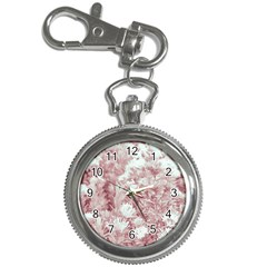 Pink Colored Flowers Key Chain Watches by dflcprints