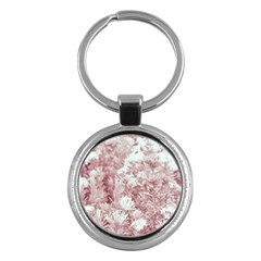 Pink Colored Flowers Key Chains (round)  by dflcprints