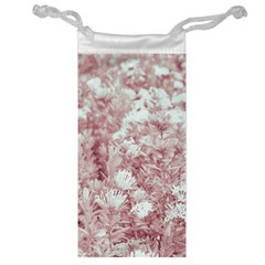 Pink Colored Flowers Jewelry Bag by dflcprints