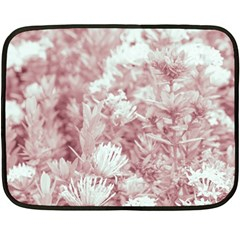 Pink Colored Flowers Fleece Blanket (mini) by dflcprints