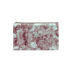 Pink Colored Flowers Cosmetic Bag (small)  by dflcprints