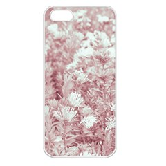 Pink Colored Flowers Apple Iphone 5 Seamless Case (white) by dflcprints