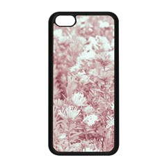 Pink Colored Flowers Apple Iphone 5c Seamless Case (black) by dflcprints