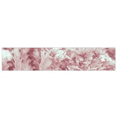 Pink Colored Flowers Flano Scarf (small) by dflcprints