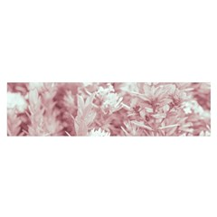 Pink Colored Flowers Satin Scarf (oblong) by dflcprints