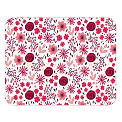 Red Floral Seamless Pattern Double Sided Flano Blanket (large)  by TastefulDesigns