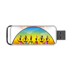 African American Women Portable Usb Flash (two Sides) by BlackisBeautiful