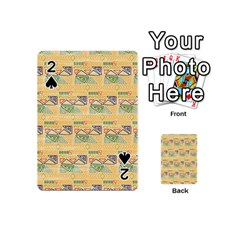 Hand Drawn Ethinc Pattern Background Playing Cards 54 (mini)  by TastefulDesigns