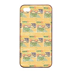 Hand Drawn Ethinc Pattern Background Apple Iphone 4/4s Seamless Case (black) by TastefulDesigns