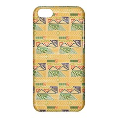 Hand Drawn Ethinc Pattern Background Apple Iphone 5c Hardshell Case by TastefulDesigns