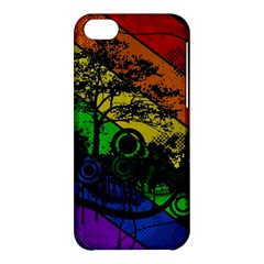 Trees Stripes Lines Rainbow  Apple Iphone 5c Hardshell Case by amphoto