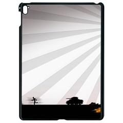Shooting Tank Person Tree Sun  Apple Ipad Pro 9 7   Black Seamless Case by amphoto