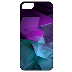 Abstract Shapes Purple Green  Apple Iphone 5 Classic Hardshell Case by amphoto