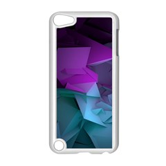 Abstract Shapes Purple Green  Apple Ipod Touch 5 Case (white) by amphoto